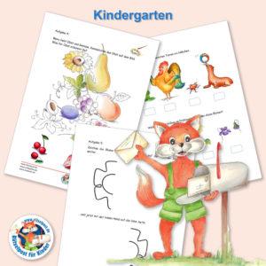 Beispiel aus der Rätselpost für Kinderartenkinder